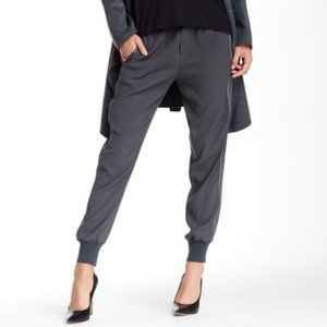 Vince NWT Gray Ribbed Cuff Joggers Satin Stripe M